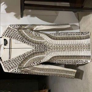 NEVER WORN. BEBE OFF WHITE DRESS